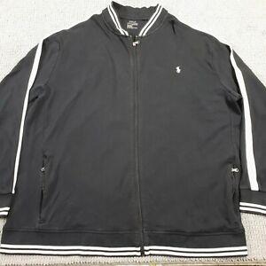 Polo Ralph Lauren Men's 4XLT Black Cotton Jacket Light Weight Full Zip