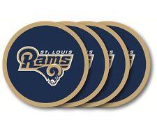 Los Angeles Rams Coaster Set - 4 Pack [NEW] NFL Drink Bar Man Cave Shot