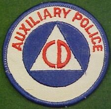 Civil Defense Auxiliary Police on White Twill Patch