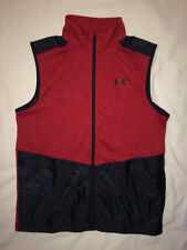 UNDER ARMOUR Boys Storm Hybrid Golf Zip Vest Red Black Boys L Basketball Shoes