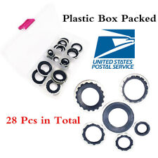 28 Pcs Compressor Repair Pipe seal Gaskets Spacers For R134a Air Conditioning
