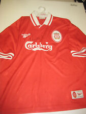 LIVERPOOL-ROBBIE FOWLER HAND SIGNED 1995-96 LIVERPOOL JERSEY+PHOTO PROOF + C.O.A
