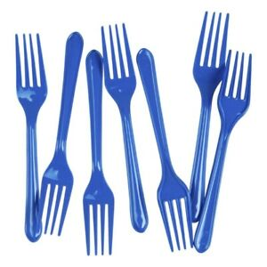 20 - 100 Packs Reusable Plastic FORKS Birthday Party Cutlery Tableware Supplies