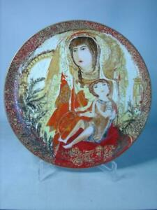 """Anna Perenna MADONNA AND CHILD Byzantine Triptych 9.8"""" Plate Russell Barrer"""