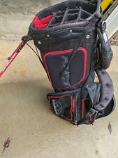 Sun Mountain 14 Way Golf Stand Bag Black with Red Trim