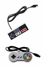 2-Pack Set USB Operated Plug and Play NES + SNES Controllers Retro Gaming