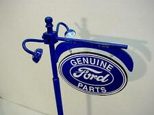 """Crafted 1-18 Scale Lit Up Ford Dealer Pole Sign 14"""" Tall Garage Diorama Display"""