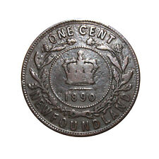 KM# 1 - One Cent - Victoria - Newfoundland - Canada 1890 (Fair)