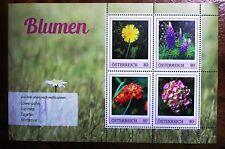 ME4 -  Blumen - Löwenzahn, Lupinen, Tagetes usw. - Österr 4W KB PM 2018**