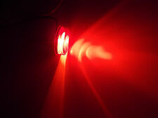 """Sealed 2"""" x 11/16"""" Round Trailer Red Clearance/Side Marker Light Flush Mount"""