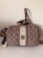 Guess Small Cross Body Bag Miss Social Camera Taupe NWT