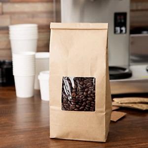 Bakery Bags with Window Kraft 1/2 lb tin tie Coffee Bakery Bags w/Window