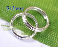 Wholesale 200Pcs Silver Plated Double Loop Split Metal JUMP RINGS 6MM