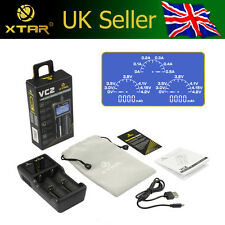 XTAR VC2 USB 3.6V/3.7V Li-ion/IMR Battery Charger & CAPACITY TESTER LCD Display