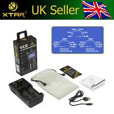 XTAR VC2 USB 3.6V/3.7V Li-ion/IMR Battery Charger & CAPACITY TESTER LCD Display