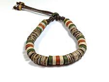 Bracelet Ceramic Clay Beads Urban Ethnic Surfer Wristband Bangle Handmade Hemp