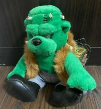 Meanies Grisly Grizzlies Halloween 99 FRANKENBEAR New with tags 1999 beany plush