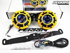 Perrin Bracket + Hella Sharptone Horns (Yellow) + Harness for 2002-2007 WRX STI