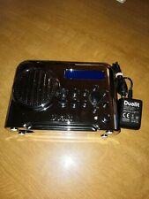 DUALIT DLR-1 HI-CHROME DAB/FM PORTABLE RADIO MAINS/BATTERY ALARM/TIMER