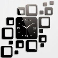 New Black Mirror Wall Stickers Clock Design Home Decor Art Watches accessories