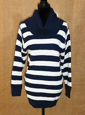 H&M Divided women size 8 cowl neck knit sweater stripped