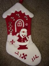Dan Dee Collector's Choice Plush 3D Christmas Stocking * Santa Cottage * EUC *