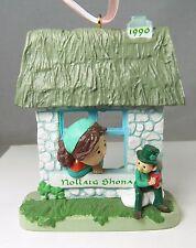 """Nollaig Shona Irish Christmas Holiday Ornament 4"""" NOS Hallmark 1990 Leprechaun"""