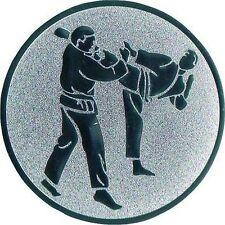 25 Embleme D:50mm Karate gold (Emblem Wettkampf für Medaillen Pokale Urkunden)