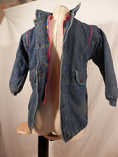 Girls Jean Jacket quilted lining embroidered collar size 6