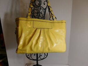 COACH - Bright yellow patent leather tote, good size