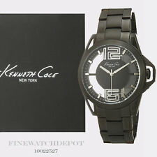 Authentic Kenneth Cole Transparency Black Men's Watch 10022527