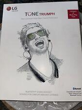 New listing Lg Tone Triumph Bluetooth Wireless Stereo Headset - Black (Hbs-510)