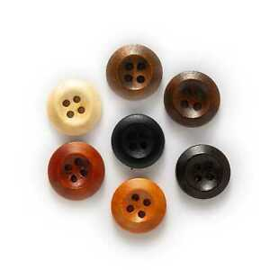 4 Hole Round Wooden Buttons for Sewing Scrapbook Clothing Crafts Gift 10-25mm