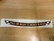 Isle of Man Road Races - TT Visor Decal Sticker - BLACK + ORANGE