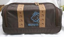 "Bolso ""HELLO KITTY"" en color marrón con ruedas y asa de maleta"