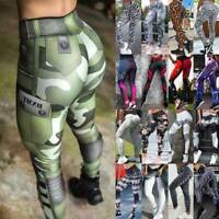 Women High Waist Yoga Pants Push Up Leggings Workout Gym Ruched Sports Trousers