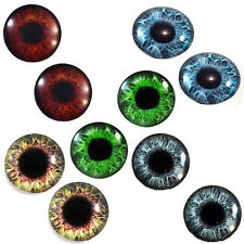 Lot 5 Pairs of 25mm Large Human Glass Eye Props for Crafts Dolls Jewelry Making