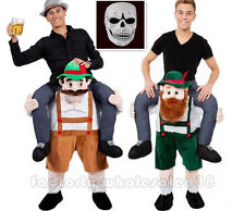 Bavarian Beer Guy Carry Mascot Costume Cosplay Back Me Dress Adults size