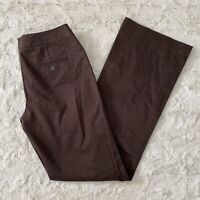 NWT Express Women's Brown Editor Low Rise Flare Leg Trouser Pants Size 0