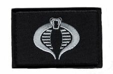 GI Joe Cobra Silver 3.0 x 2.0 Cosplay Embroidered Snake morale hook patch