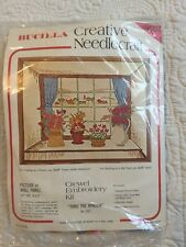 BUCILLA Creative Needlecraft Picture Thru The Window Kit 1552 Crewel New 19x23