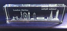 LONDON  SKYLINE CRYSTAL GLASS ENGLAND BRITISH UK SOUVENIR GIFT PACK