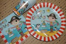 RACHEL ELLEN BOYS PIRATE BIRTHDAY PARTY- Plates, Napkins, Cups