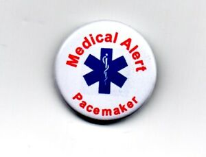 """Medical Alert 1"""" Badge Pacemaker Fitted Useful Emergency Assistance heart"""