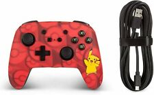POKÉMON Pikachu Nintendo Switch Controller Pro Style RED 10ft Wired USB PowerA