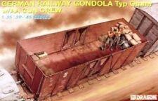 DRAGON GERMAN RAILWAY GONDOLA W/GUN CREW 6086