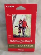 """Canon Photo Paper Plus Glossy II, 4"""" x 6"""" Inkjet Printer Paper, 100 sheets pack"""