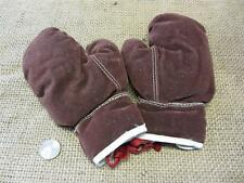 Vintage Childs Leather Boxing Gloves > Antique Old Box Bag Sport Fight 7894