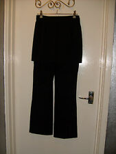 Vintage Topshop Black Skirted Trousers sz 8 - lovely condition