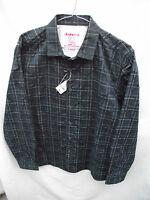 BNWT Mens Sz Large Rivers Brand Navy Pattern Long Sleeve Slim Fit Shirt RRP $40
